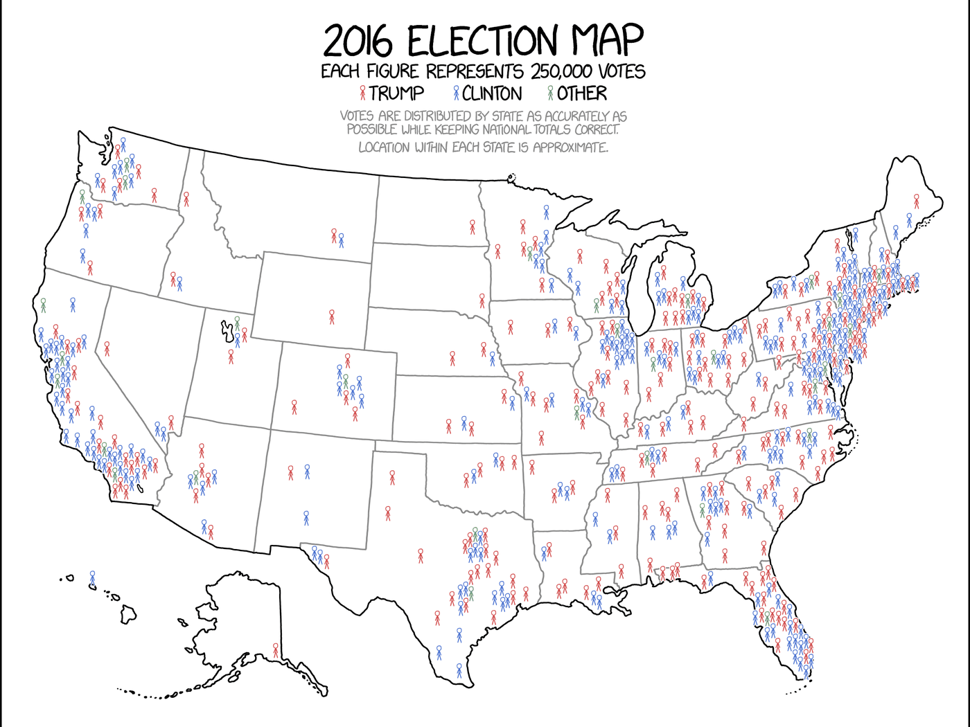 This might be the best map of the 2016 election you ever see ...