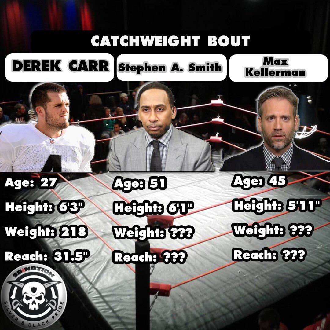 More Celebrity 'Cage Match': Derek Carr, Max Kellerman, Stephen A