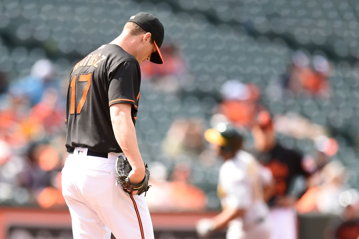 Brian Matusz just gave up a home run in this picture.