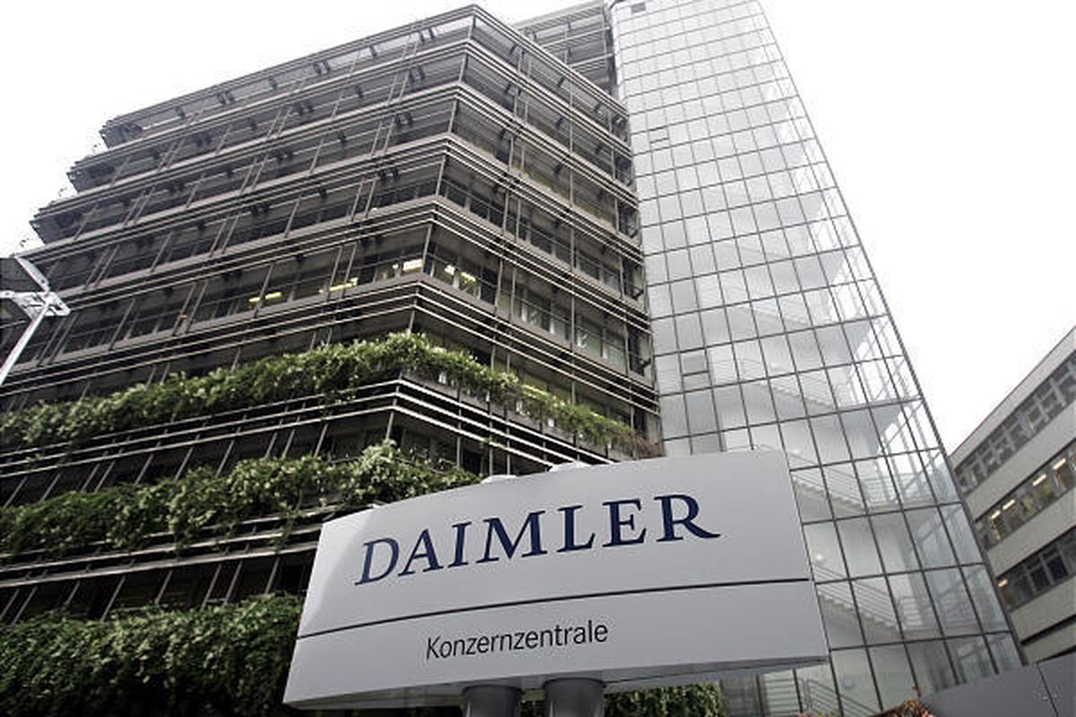 This Oct. 5, 2007, photo shows the Daimler AG headquarters in Stuttgart, Germany. Car manufacturer Daimler AG will pay $185 million to settle a criminal investigation in which the company is accused of paying tens of millions of dollars in bribes to offic