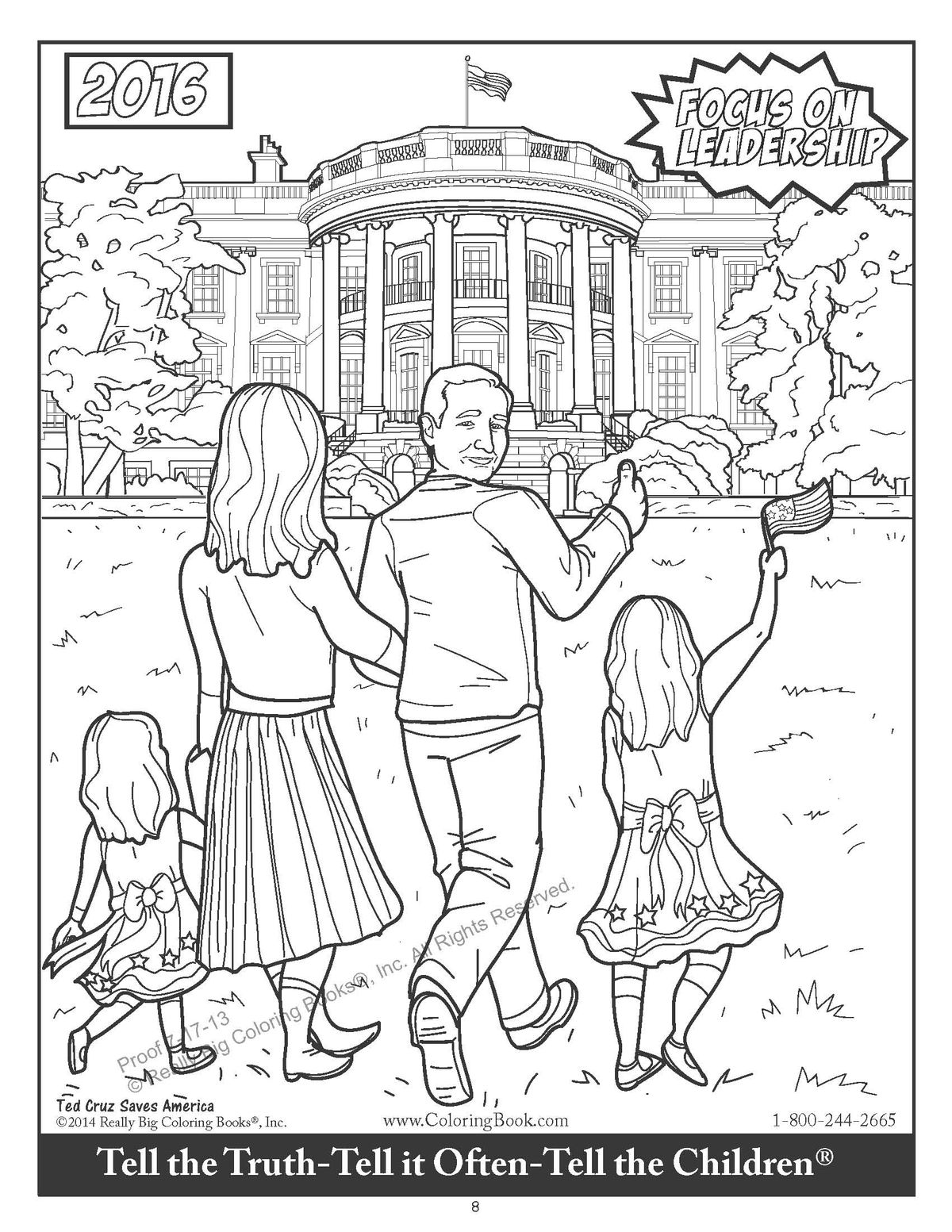 This coloring book features Ted Cruz fighting a giant snake named ...
