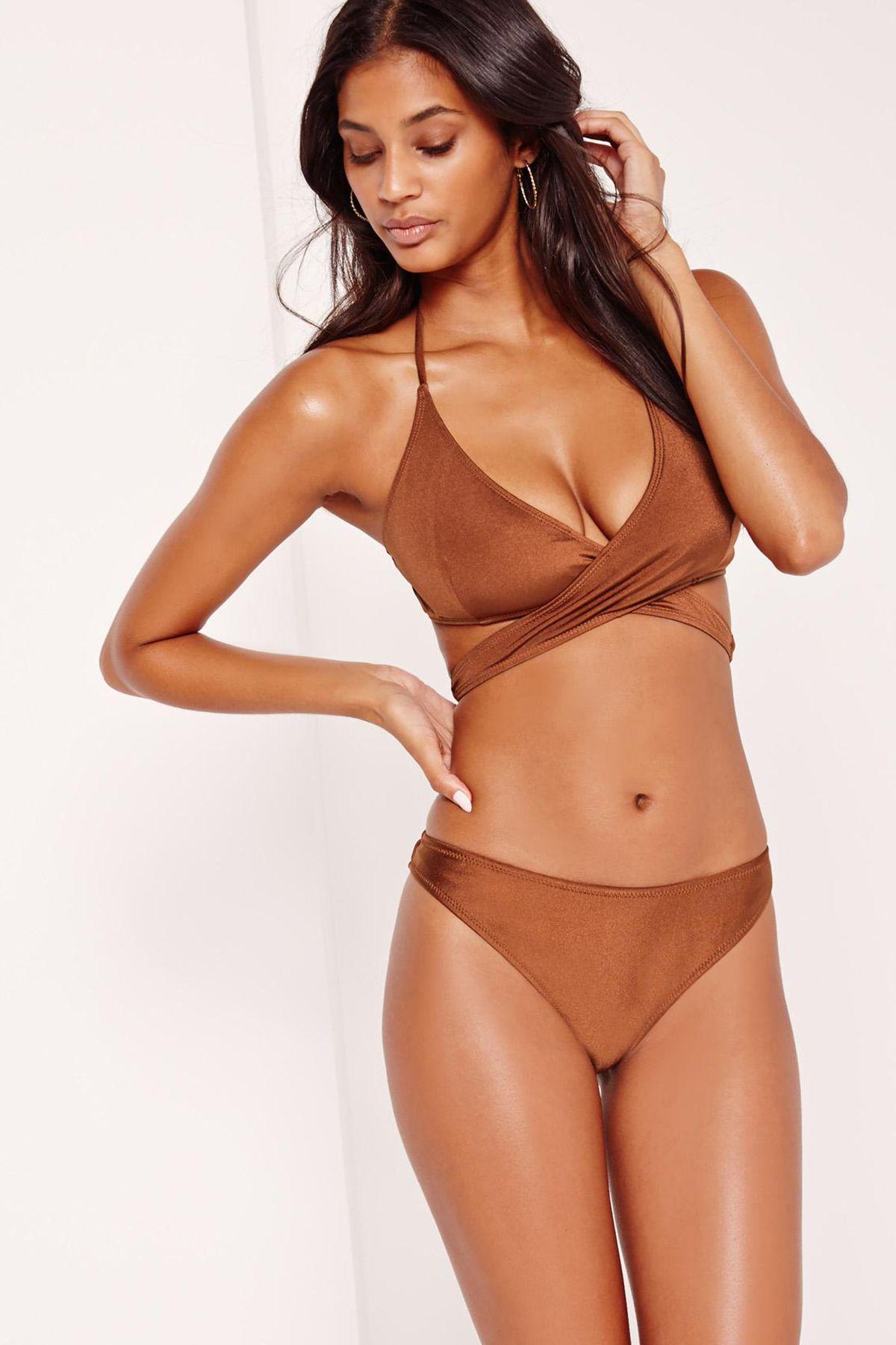 Missguided Bikini Top, $18, and Hipster Bikini Bottoms, $14.40