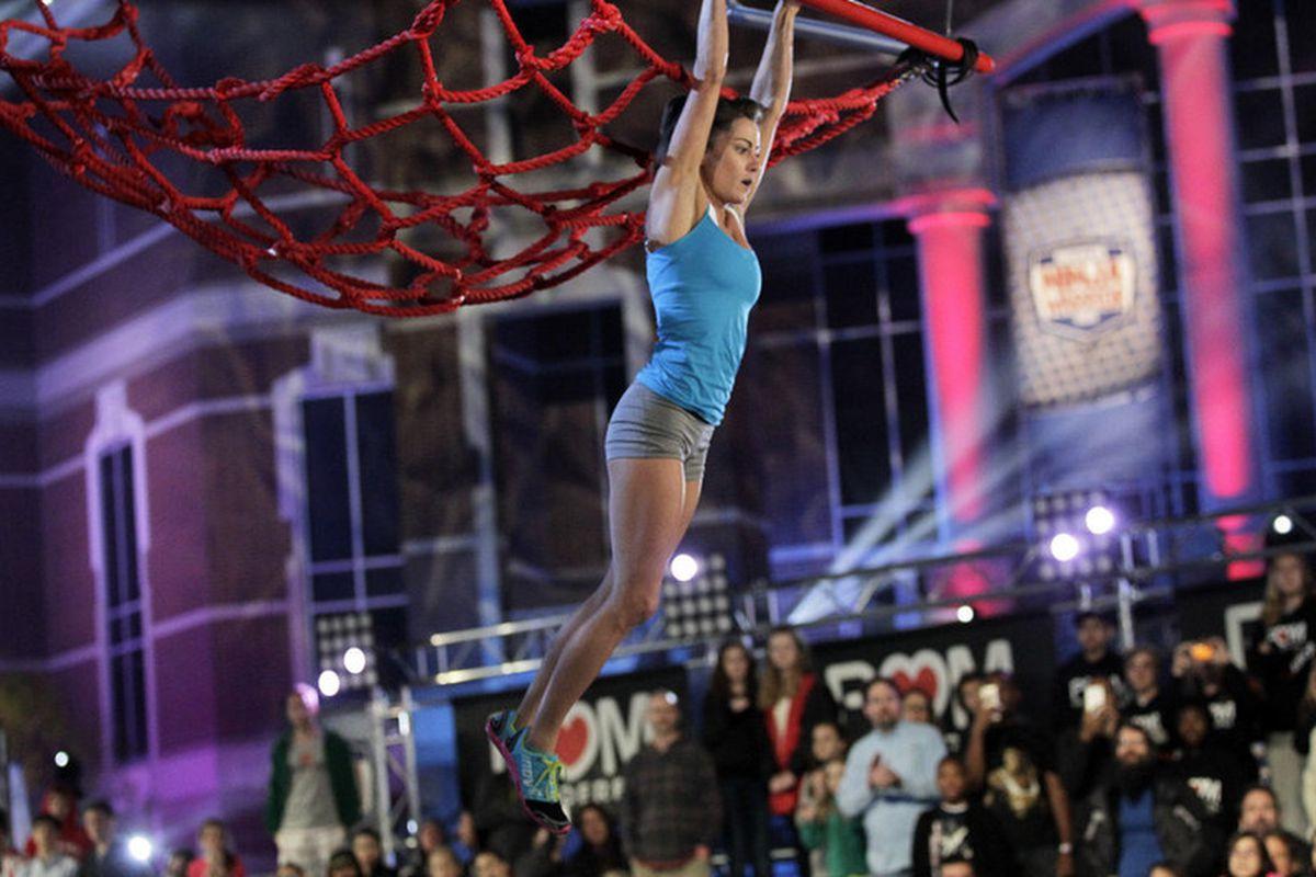 Kacy Catanzaro competing on American Ninja Warrior.