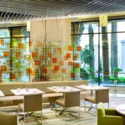 Bacchanal Buffet glass room.