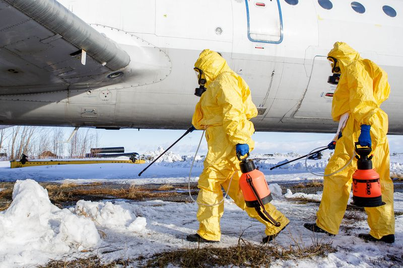 Coronavirus suspected cases evacuation exercise at Chelyabinsk Airport