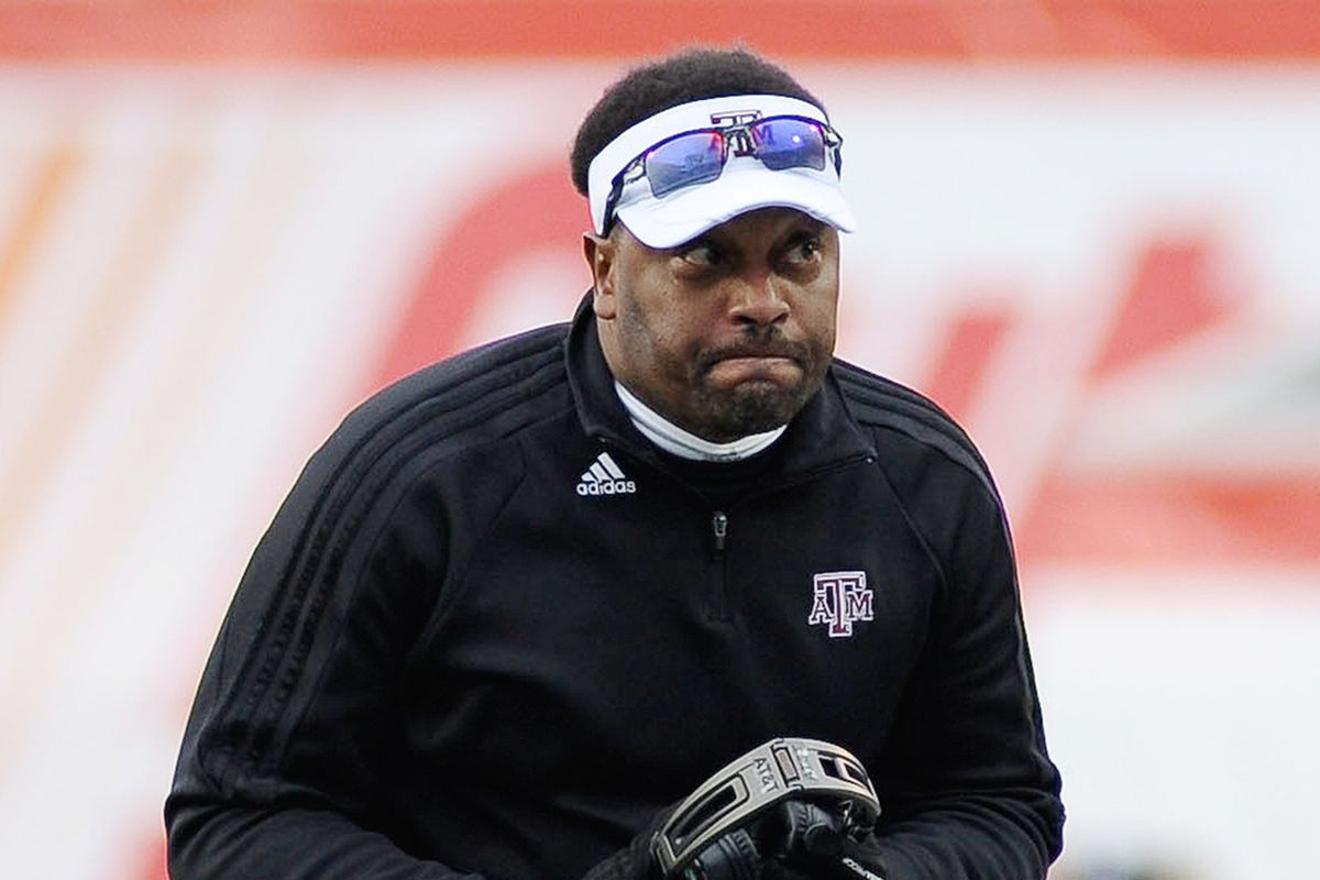 """""""first spring game in three seasons and  you're still complaining?"""" --Future Kevin Sumlin"""