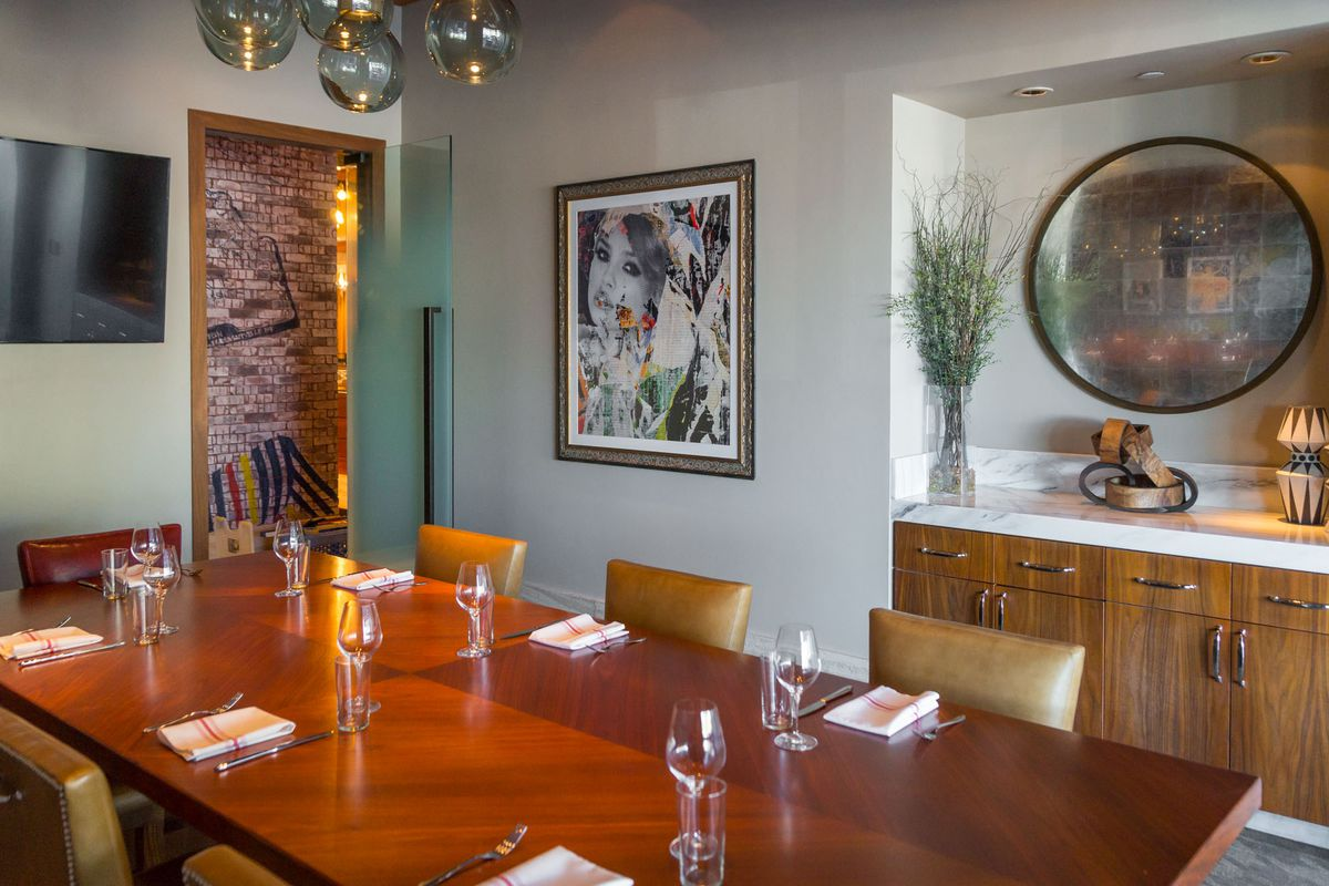 The private dining room at Masso Osteria