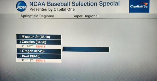 Iowa NCAA Tournament baseball