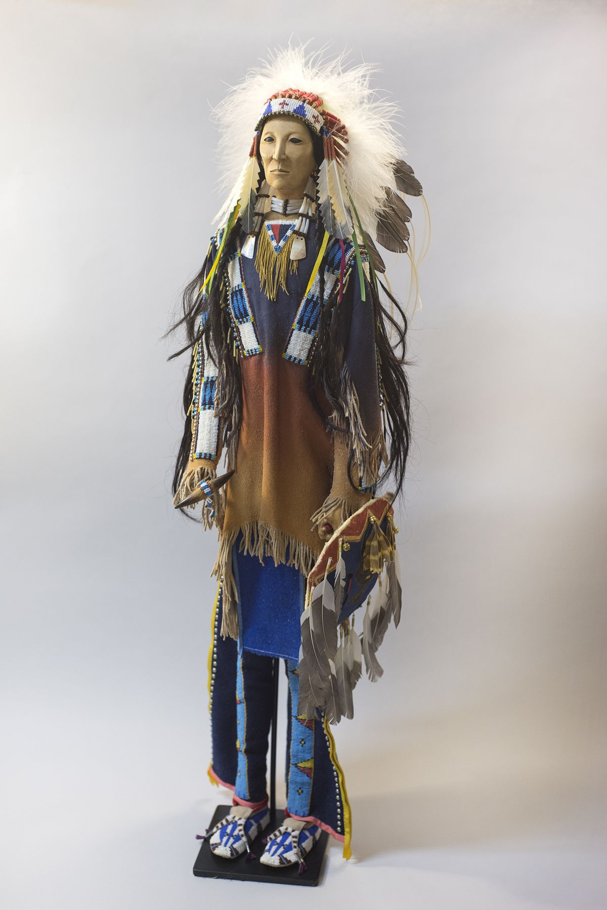 A doll by noted Lakota artist Rhonda Holy Bear is on display at the Mitchell Museum of the American Indian. | COURTESY OF THE MUSEUM
