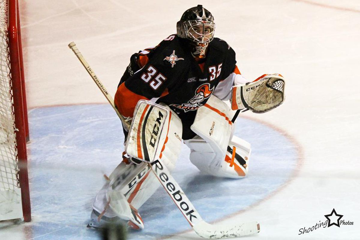 Omaha Lancers goaltender Cole Bruns has committed to Army.