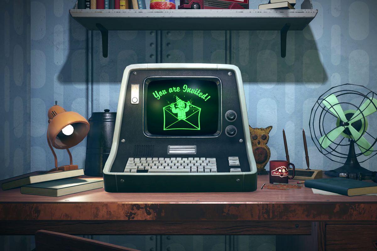 Fallout 76 teaser - computer desk