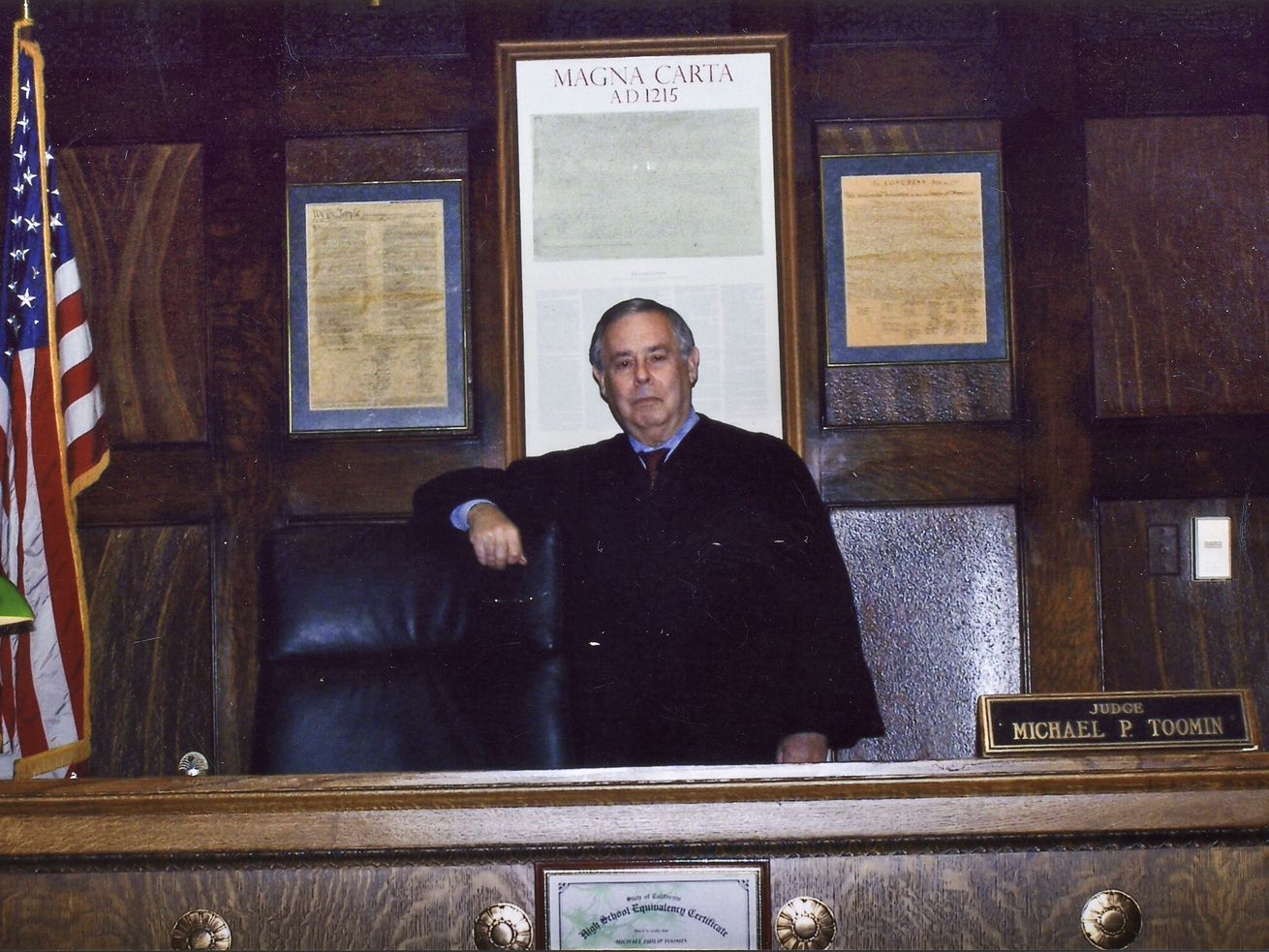 Cook County Circuit Court Judge Michael P. Toomin on the bench at 26th & California in 2012.