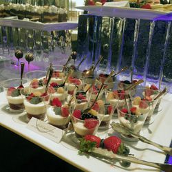 Delish desserts by Wolfgang Puck.