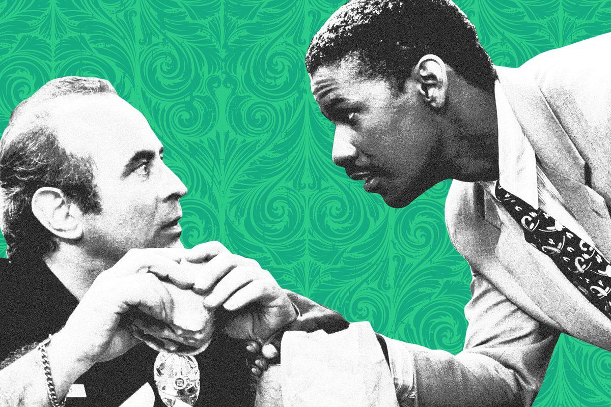 Bob Hoskins and Denzel Washington in 'Heart Condition'