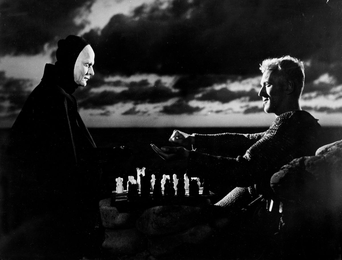 Max v. Sydow swedish actor - with Bengt Ekerot in 'The seventh seal' 1957
