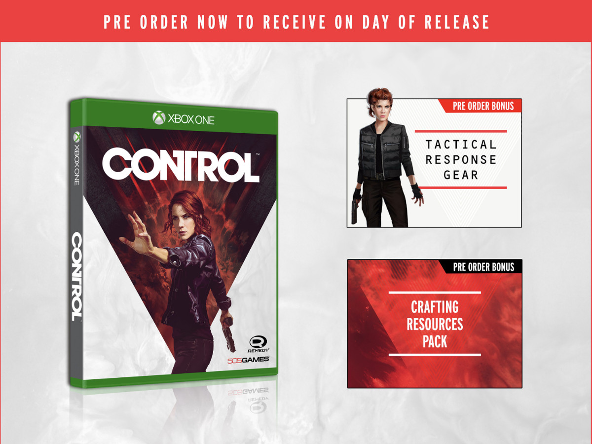 Components of the standard pre-order edition of Control