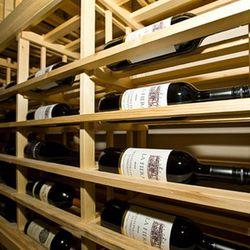 The 2,600 bottle wine room is stocked by Jason Prah