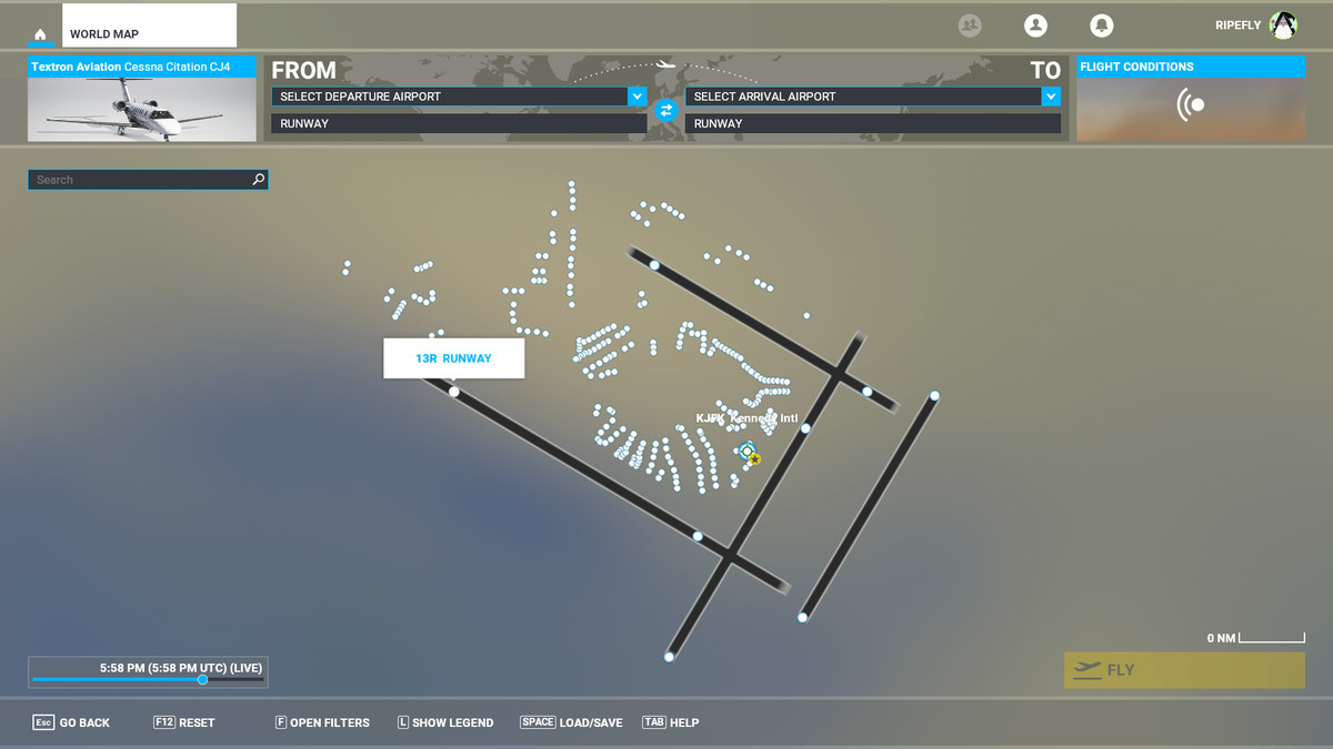 Microsoft Flight Simulator JFK Airport runways