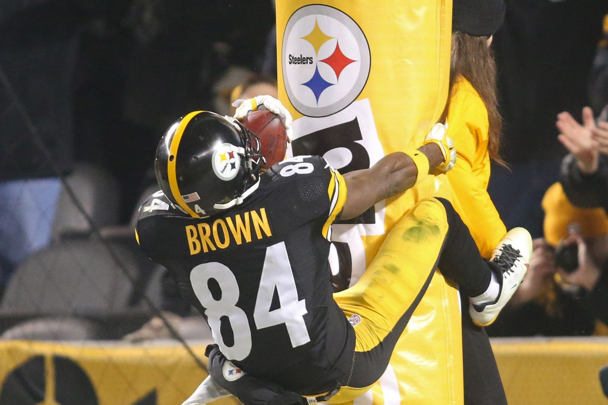 NFL fines Antonio Brown for humping a goalpost SBNation