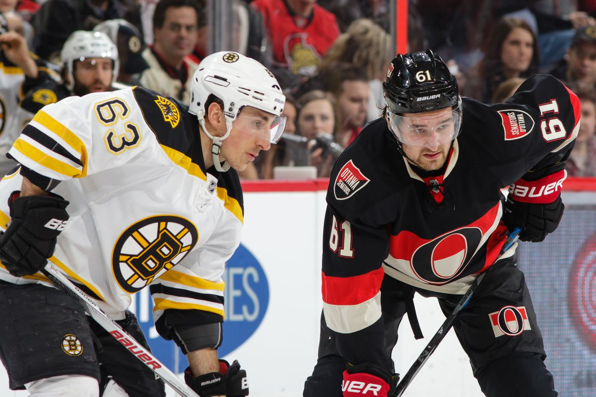 The Sens remain in the Bruins' peripheral vision