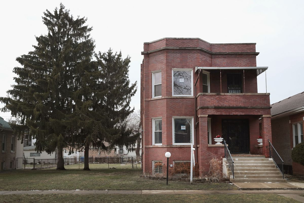 A home where infamous gangster Al Capone once lived in the Park Manor neighborhood at 7244 S. Prairie Ave.