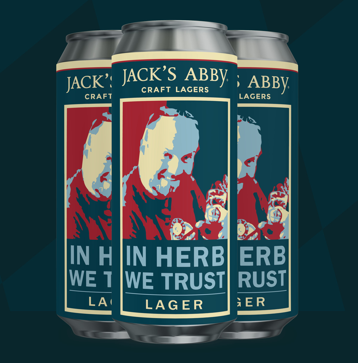 Mock-up of the can for Jack's Abby's In Herb We Trust beer