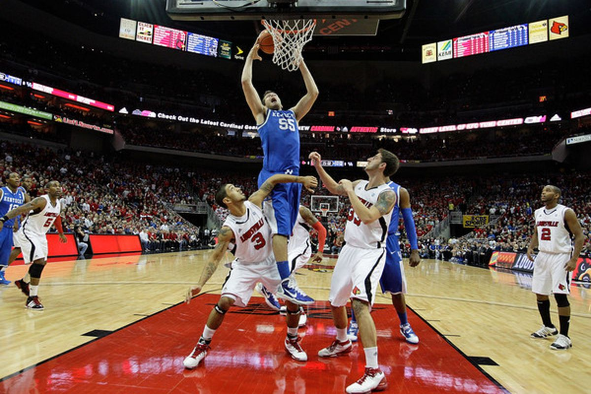 Last year, Josh Harrellson dunked the birds.  Who will it be this year?