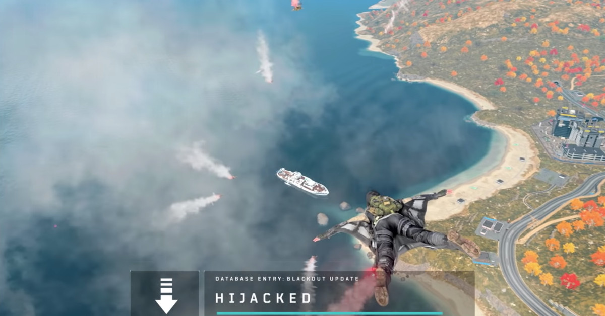 Call Of Duty Blackout S Map Is Changing This Week Adds Hijacked Yacht Polygon