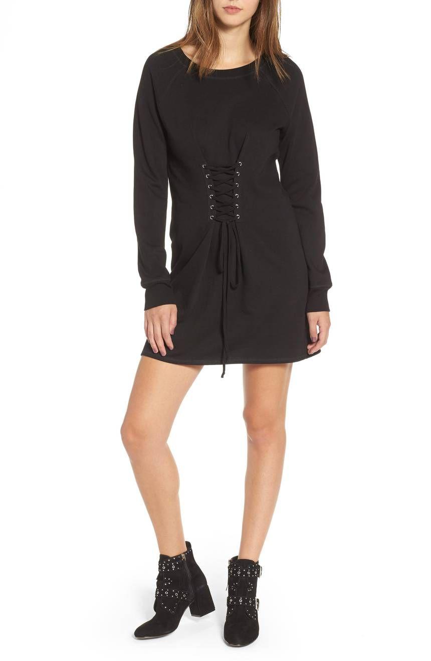 Socialite Corset Detail Sweatshirt Dress, $23.52 (was $49)