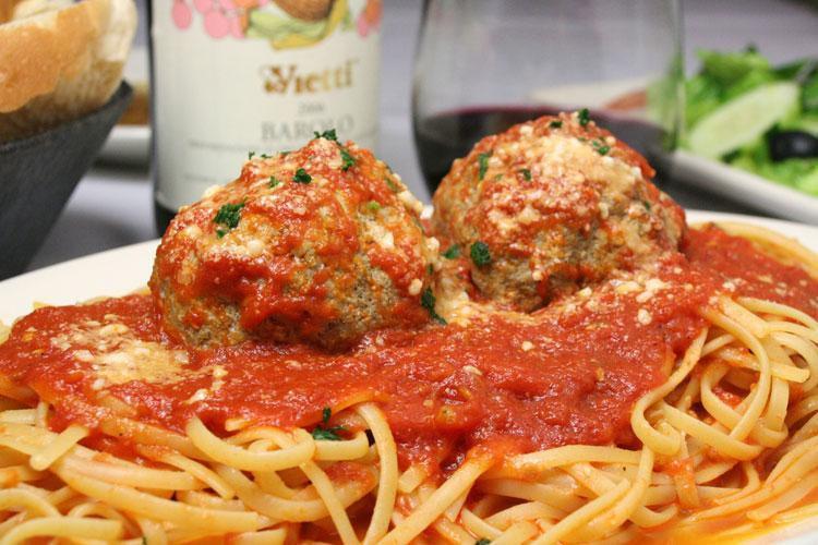 Meatballs at La Famiglia Giorgio's