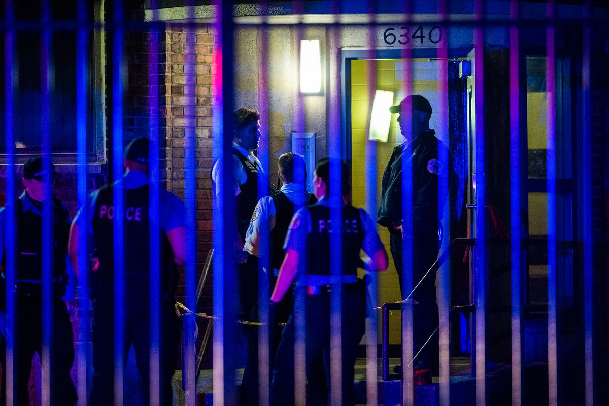 Four people were wounded in a shooting in Parkway Gardens.