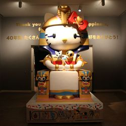 """Hello Kitty goes Egyptian: This giant fiberglass sculpture, dubbed """"Kittypatra,"""" is truly a sight to see."""