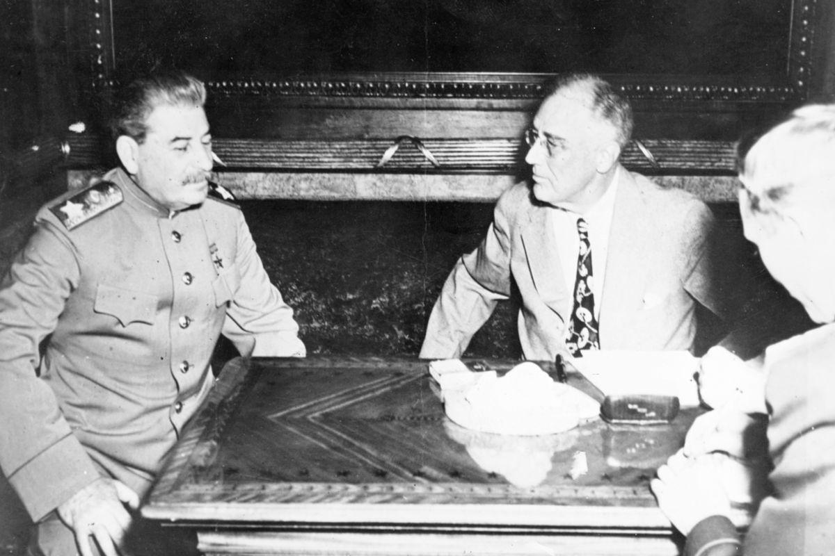 FDR and Stalin at Yalta.
