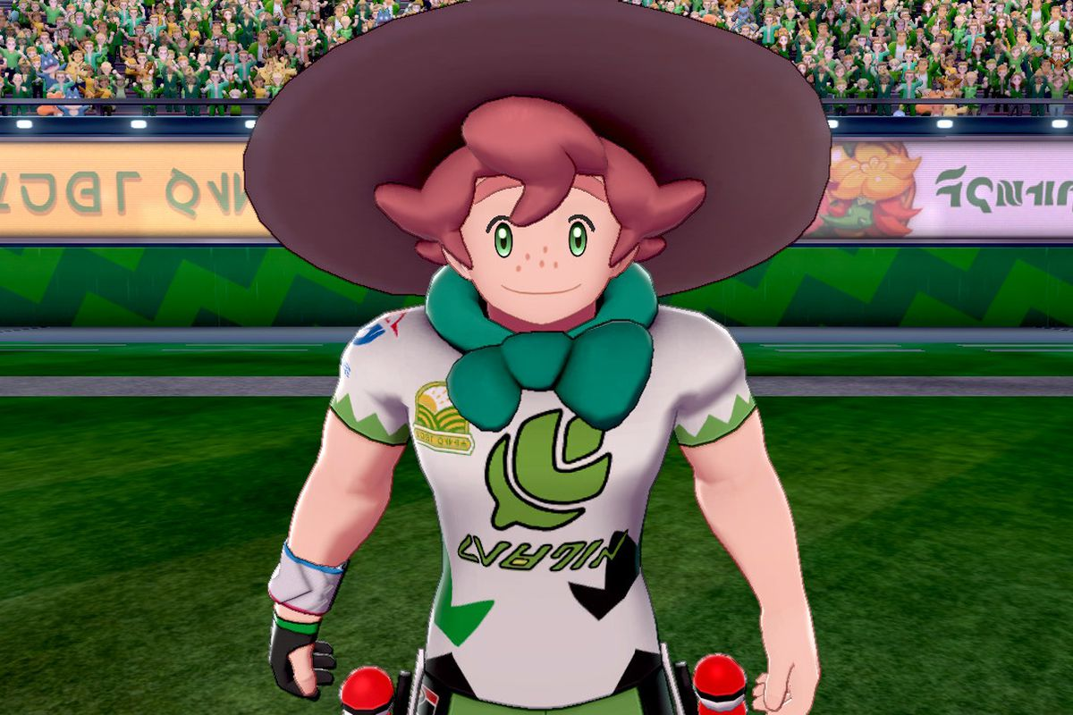 Milo, Tuffield's gym leader, stands ready to battle