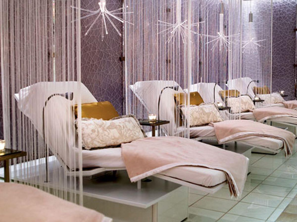 "Inside the Ritz-Carlton Spa. Photo via <a href=""http://lalive.com/play/the-ritz-carlton-hotel-spa"">LA Live</a>."