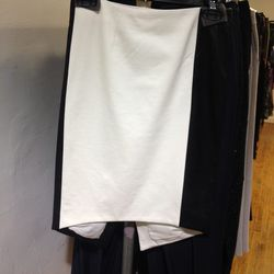 Skirt with Leather Panels, $111