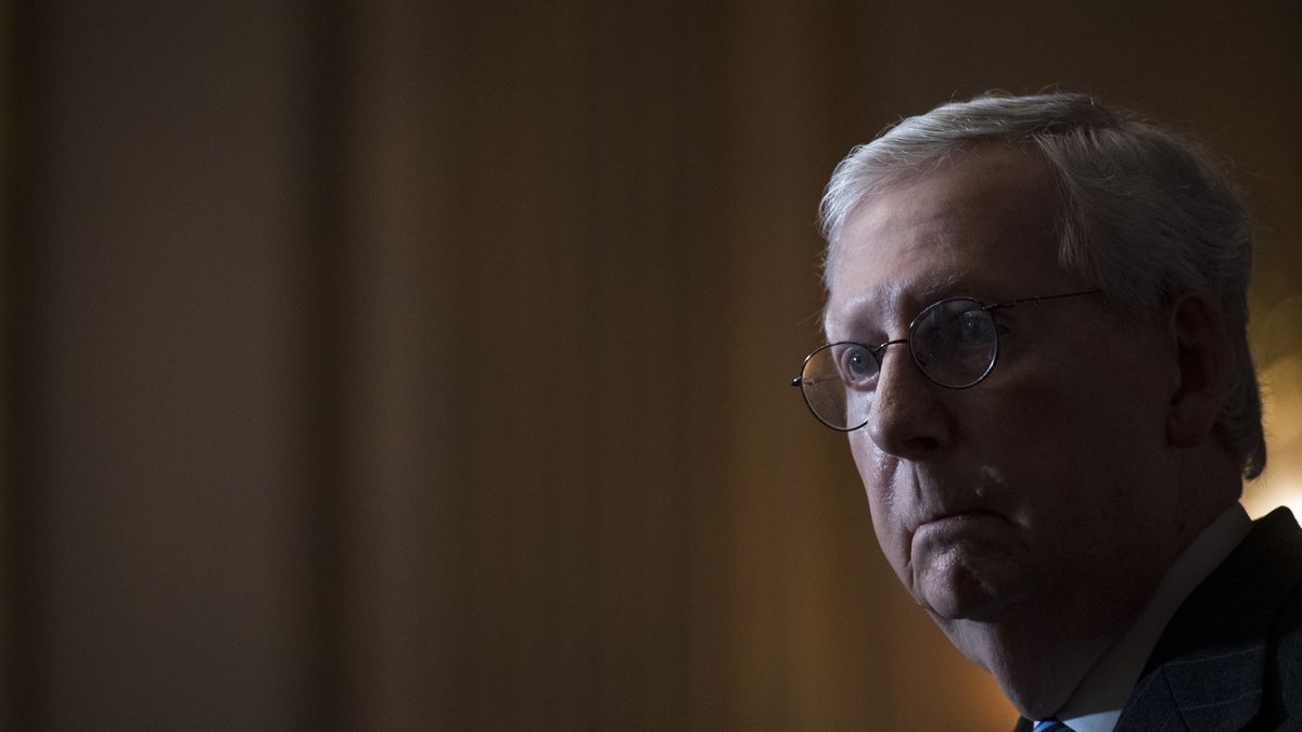 Republican Senate Leadership Holds Weekly News Conference On Capitol Hill