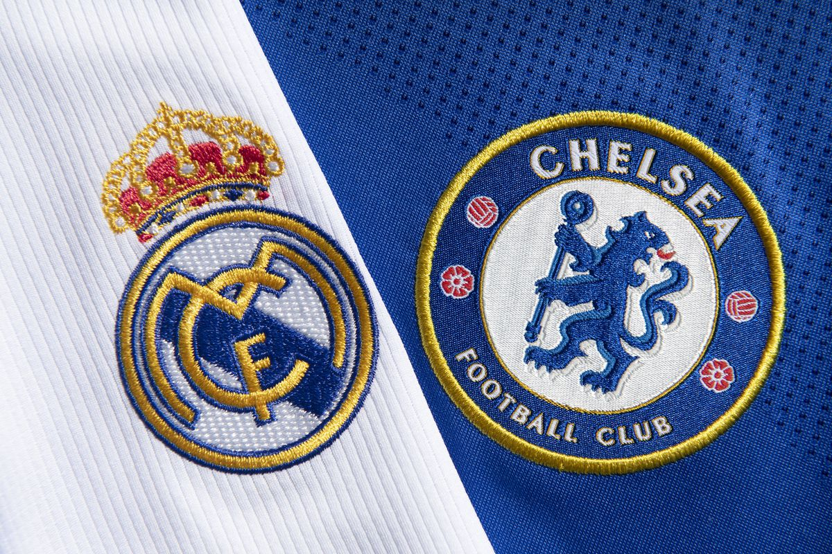 The Real Madrid and Chelsea Club Badges