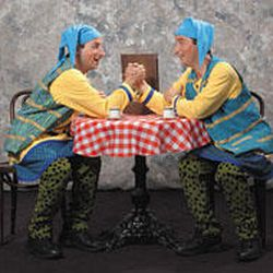 """Twins Peter, left, and Paul Riopelle play the Dromios in Utah Shakespearean Festival's fall production of """"A Comedy of Errors."""""""