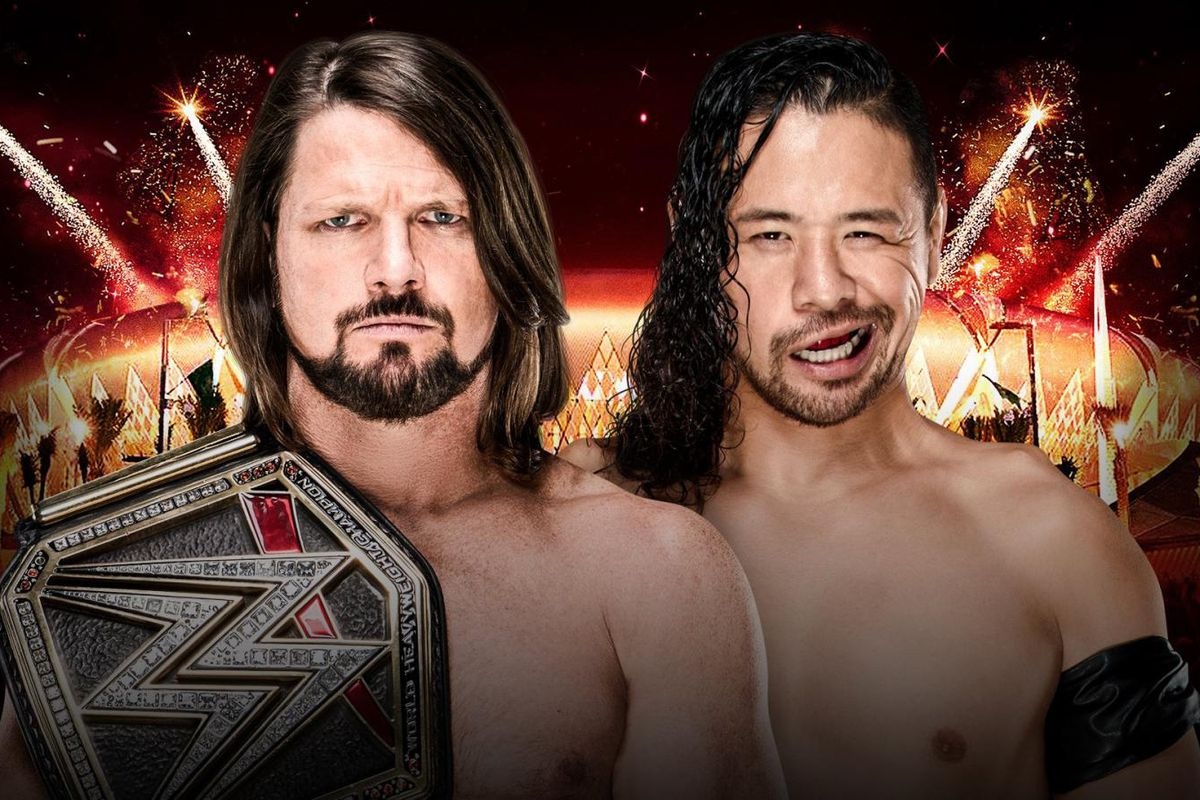 Image result for AJ Styles vs Shinsuke Nakamura announced for WWE Greatest Royal Rumble