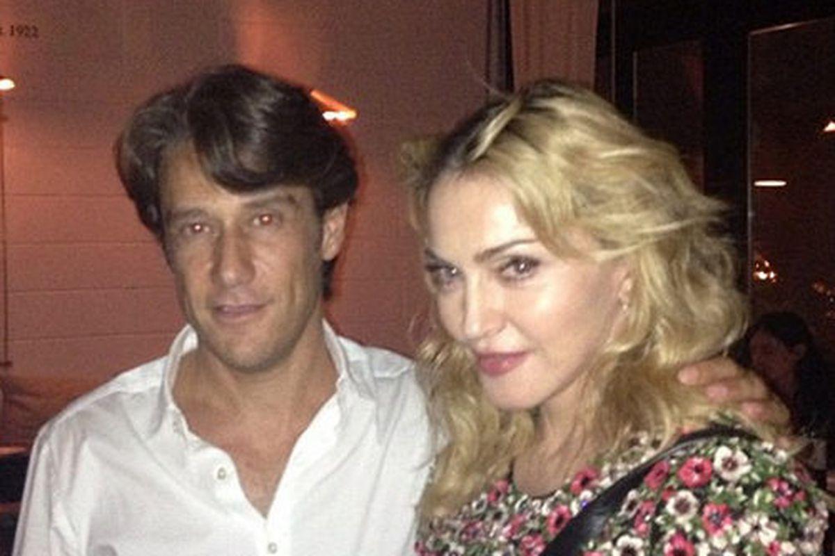 Francesco with Madonna.