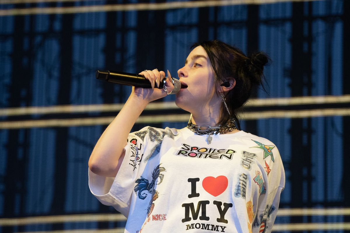 Singer/songwriter Billie Eilish performing last Sunday in Redmond, Washington.