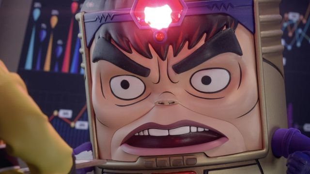 MODOK in his new Hulu show, but angry
