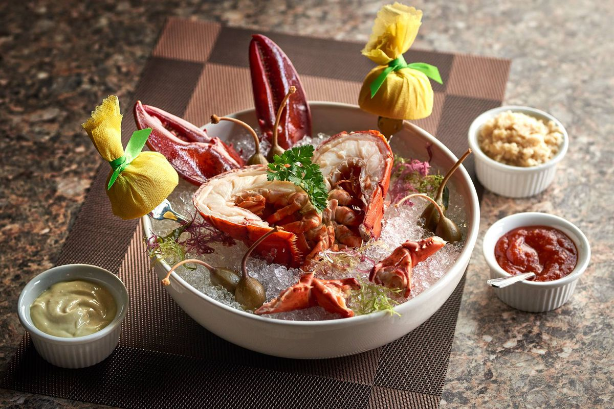 Lobster cocktail at Mastro's Ocean Club