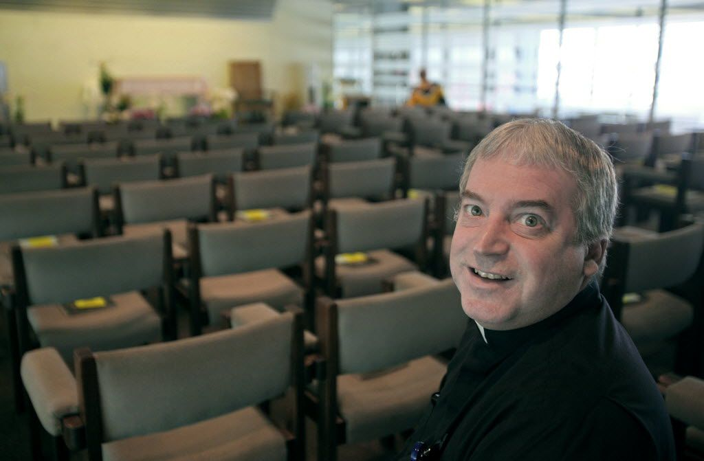 Rev. Mike Zaniolo, the full-time chaplain at O'Hare Airport, in the airport chapel in Terminal 2. | Tim Boyle/ Sun-Times