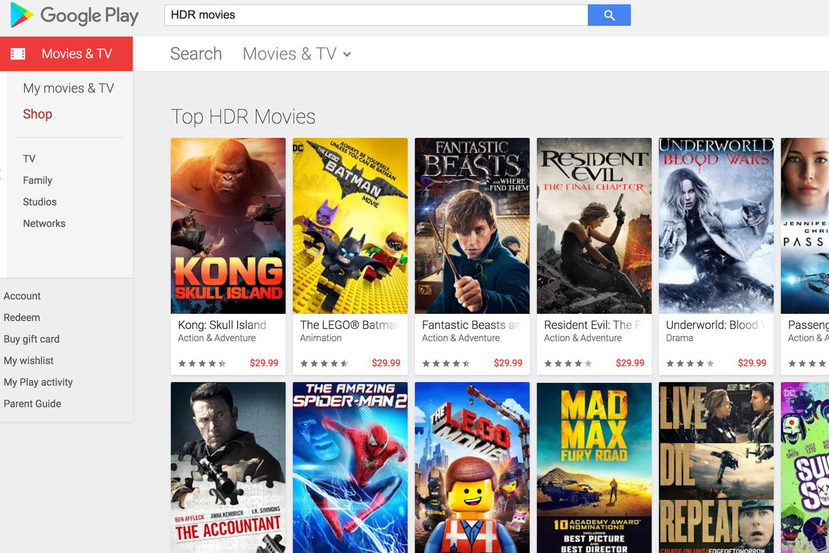 Google Play Movies & TV launches support for HDR