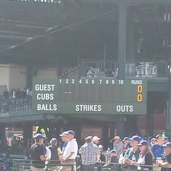 New ball/strike/out counters on the scoreboard -