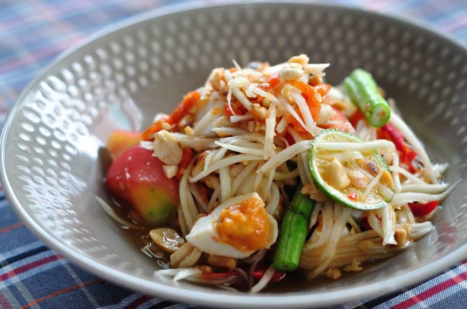 Papaya salad at Somtum Der
