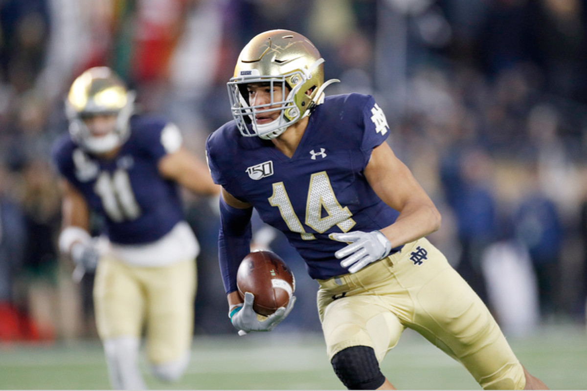 Notre Dame safety Kyle Hamilton is a potential top-five pick in next spring's NFL Draft.