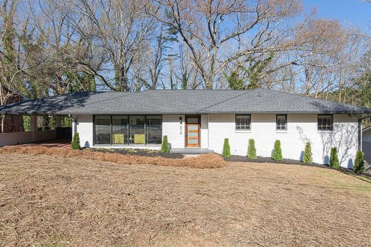 A photo of a midcentury ranch for sale in East Atlanta.